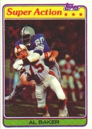 1981 Topps #498 Al(Bubba) Baker SA