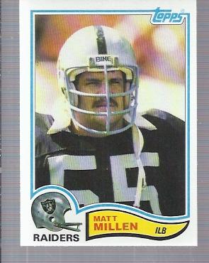 1982 Topps #196 Matt Millen RC