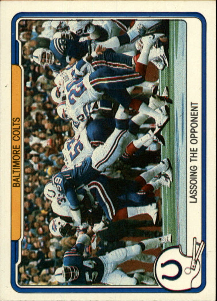1982 Fleer Team Action #4 Baltimore Colts