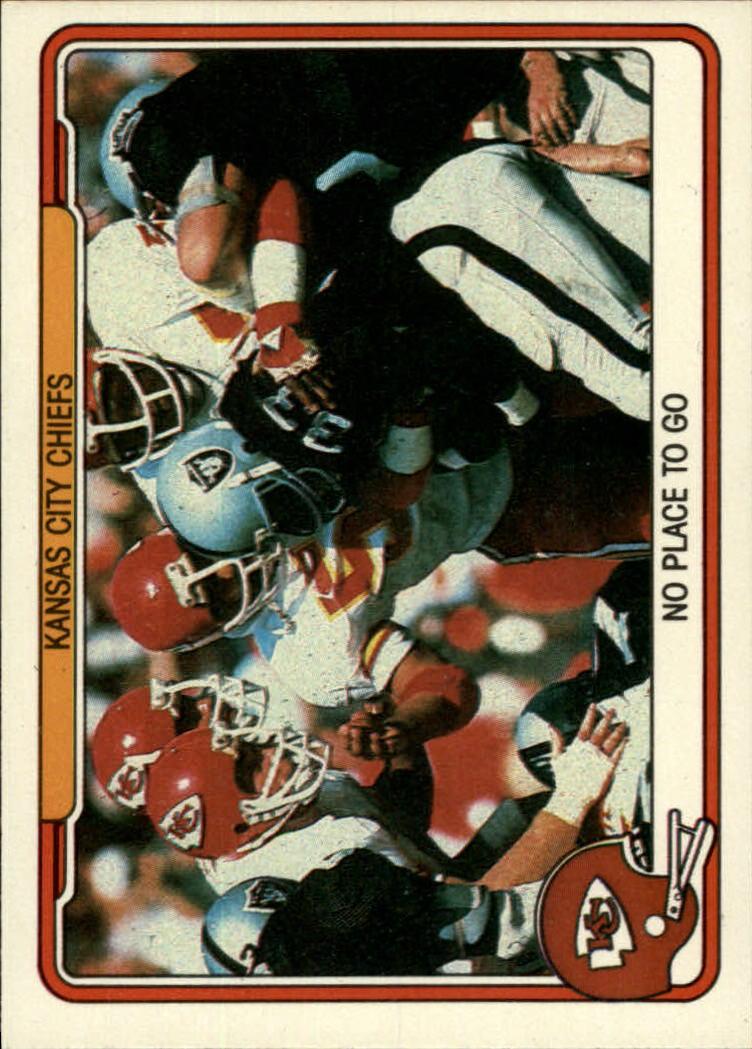 1982 Fleer Team Action #24 Kansas City Chiefs