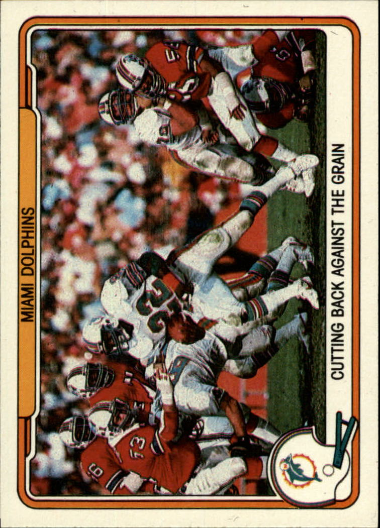 1982 Fleer Team Action #27 Miami Dolphins