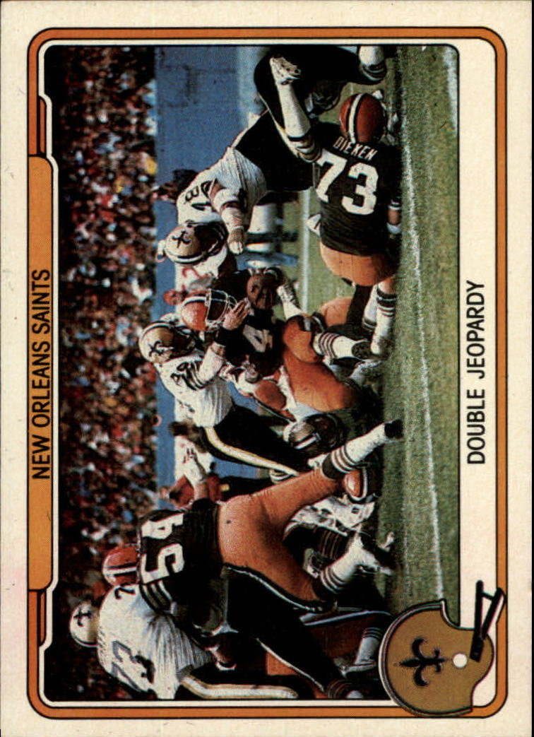 1982 Fleer Team Action #34 New Orleans Saints