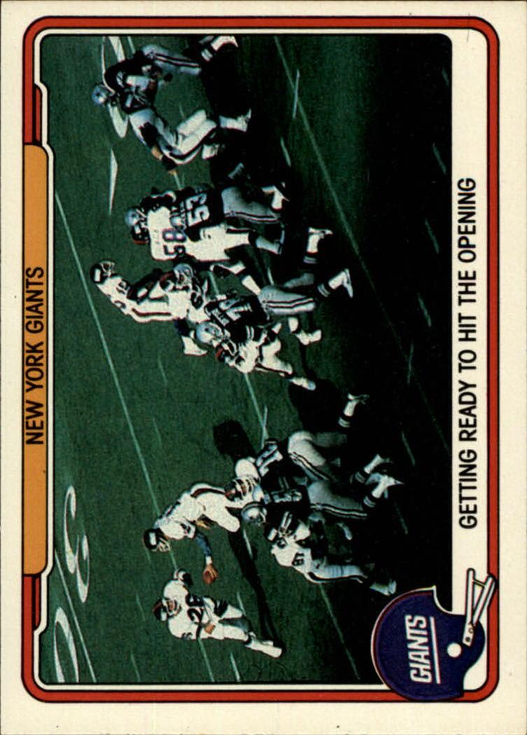 1982 Fleer Team Action #35 New York Giants