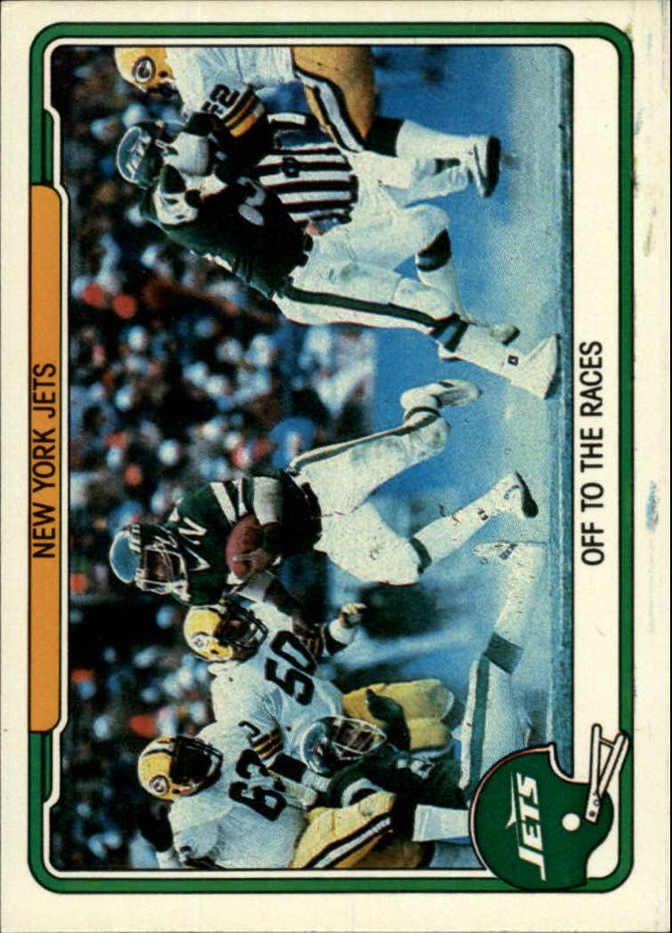 1982 Fleer Team Action #37 New York Jets