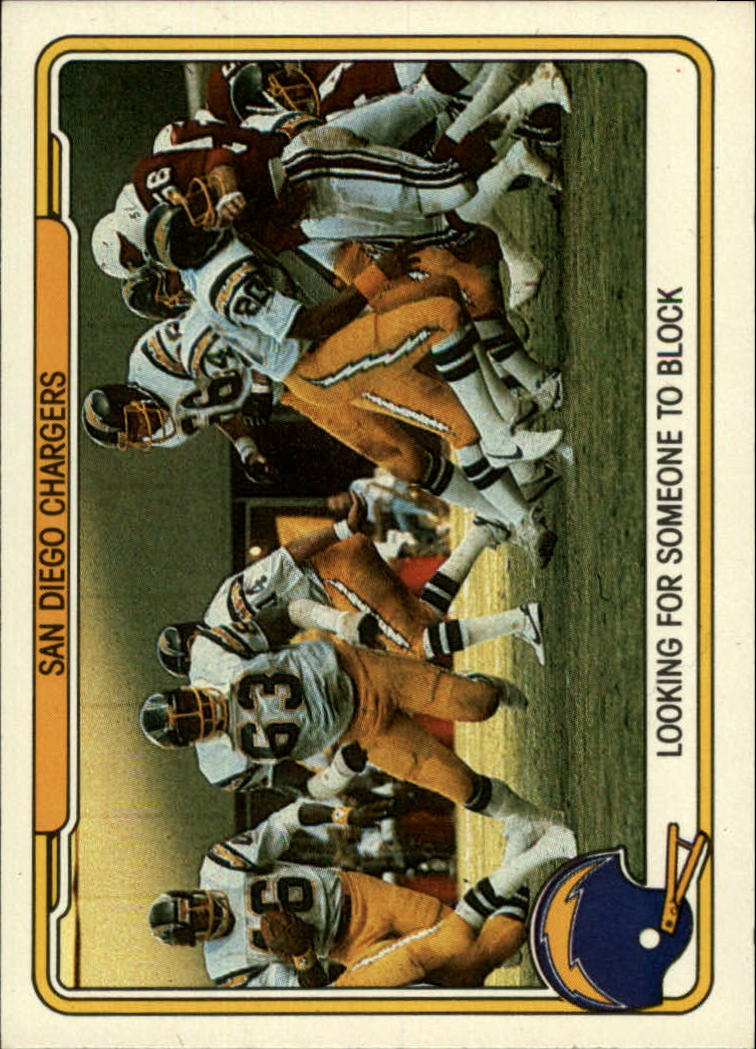 1982 Fleer Team Action #47 San Diego Chargers