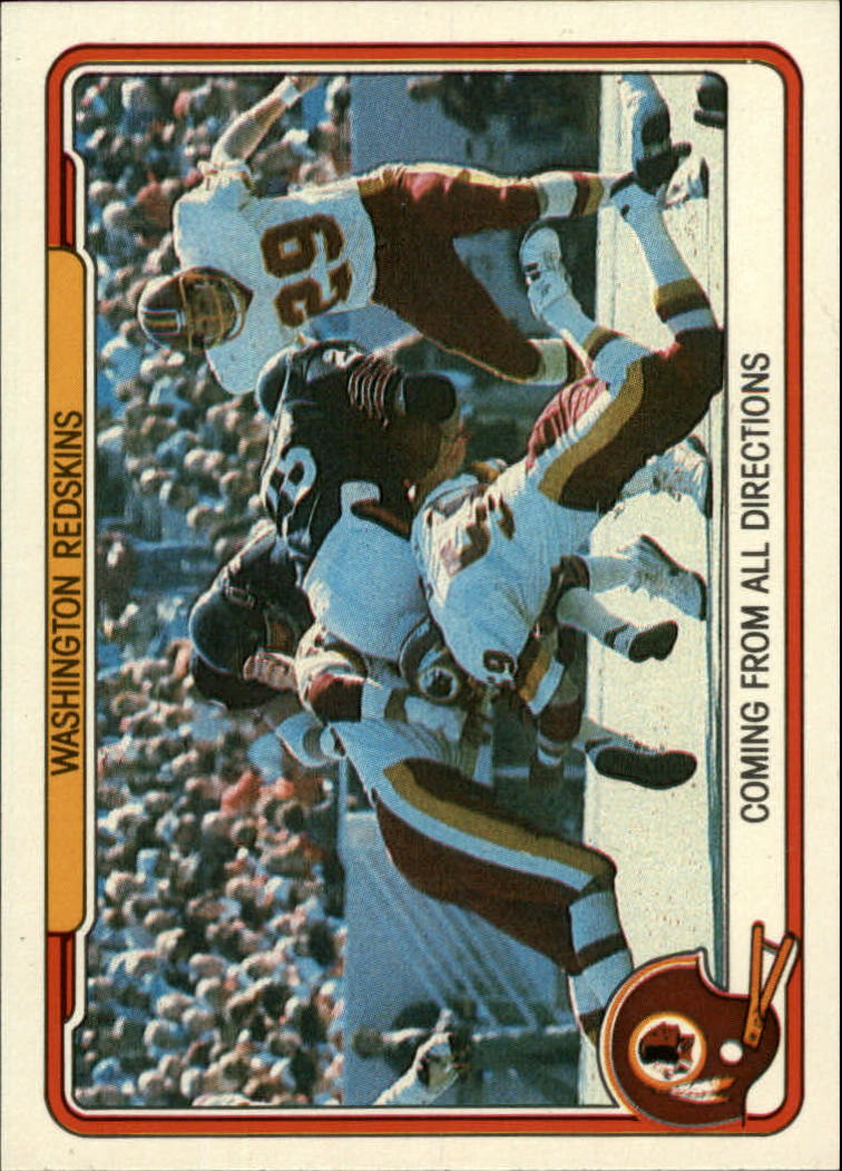 1982 Fleer Team Action #56 Washington Redskins