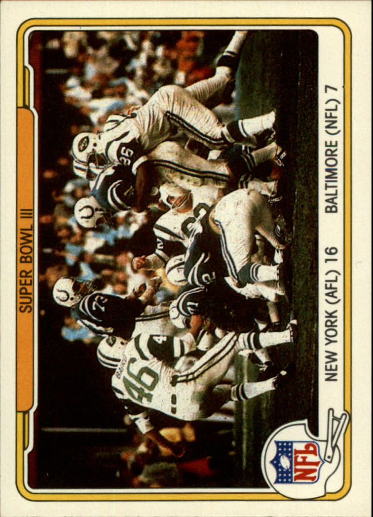 1982 Fleer Team Action #59 Super Bowl III