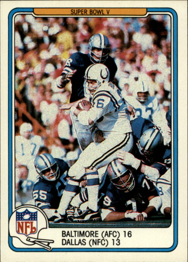 1982 Fleer Team Action #61 Super Bowl V