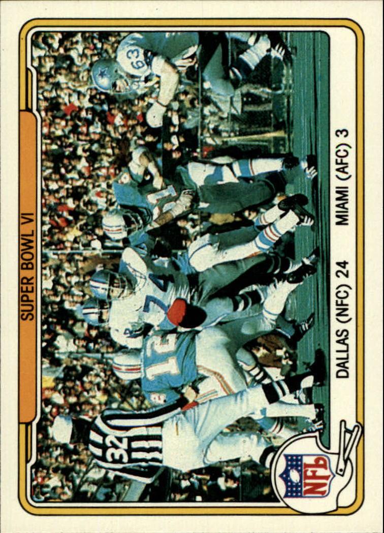 1982 Fleer Team Action #62 Super Bowl VI