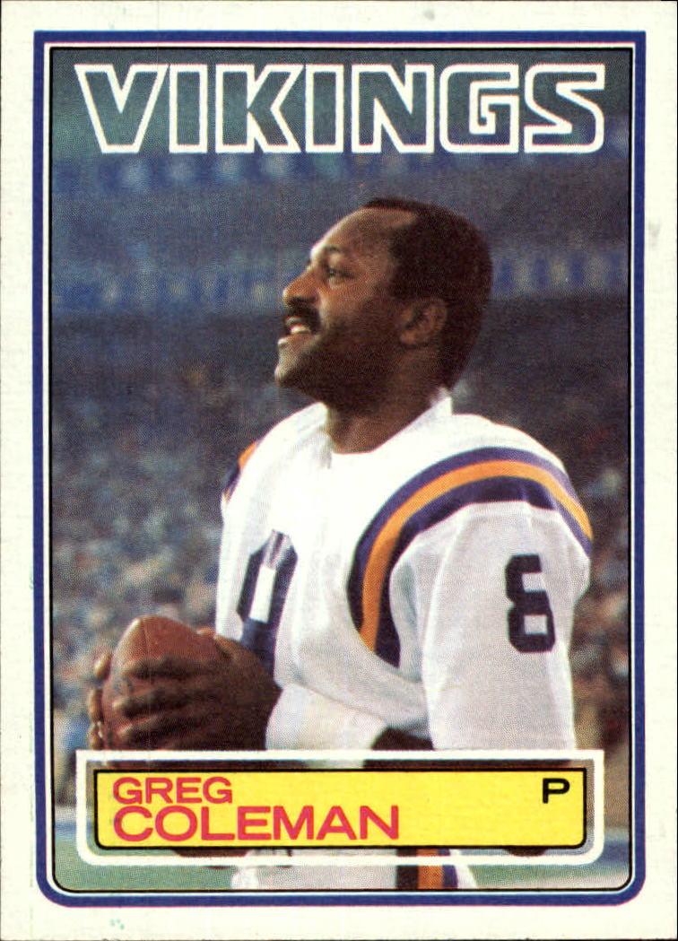 1983 Topps #100 Greg Coleman