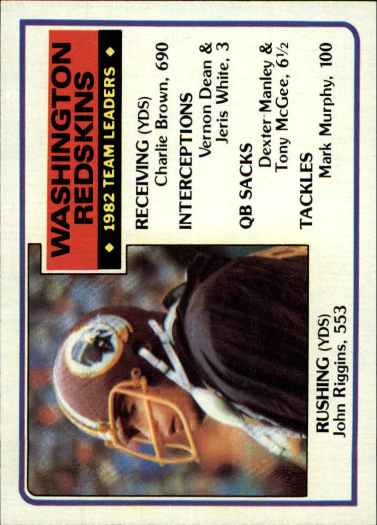 1983 Topps #186 Wash. Redskins TL/John Riggins