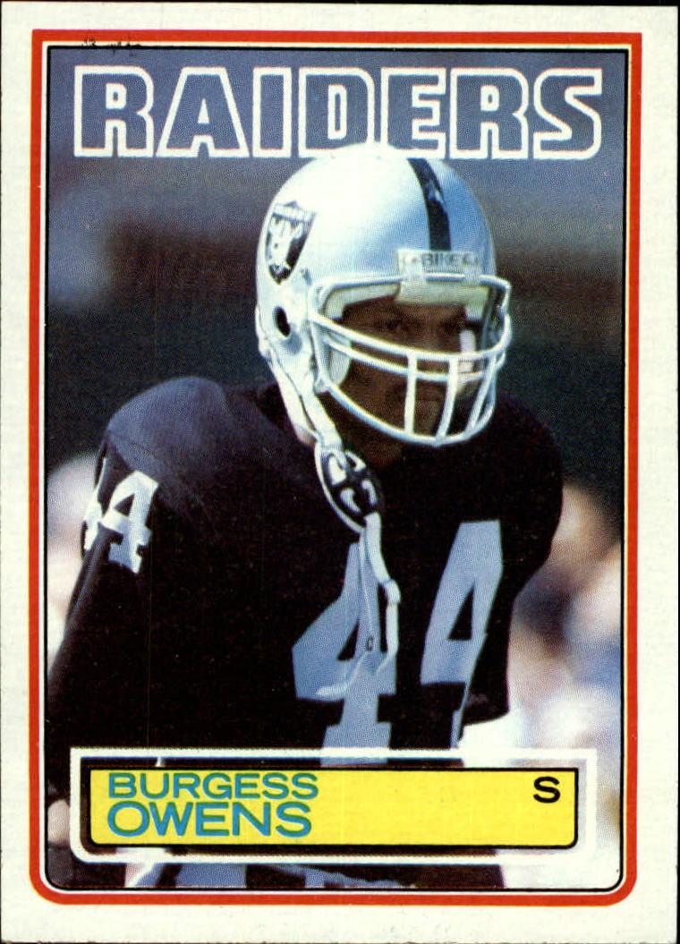 1983 Topps #306 Burgess Owens