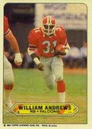 1983 Topps Sticker Inserts #4 William Andrews