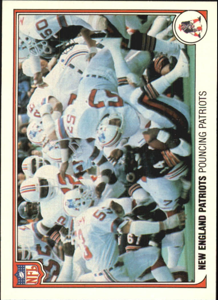 1983 Fleer Team Action #34 New England Patriots