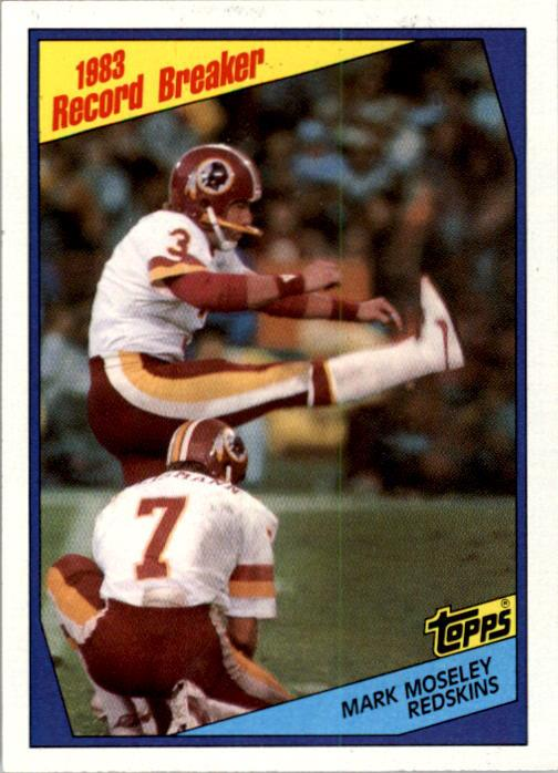 1984 Topps #4 Mark Moseley RB/161 Points Sets/Mark for Kickers