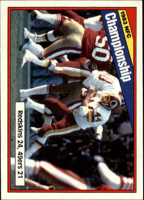 1984 Topps #8 NFC Championship/Redskins 24,/49ers 21/(John Riggins running)