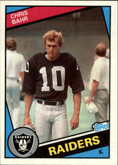 1984 Topps #102 Chris Bahr