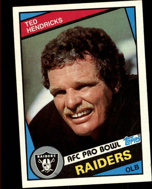 1984 Topps #110 Ted Hendricks PB
