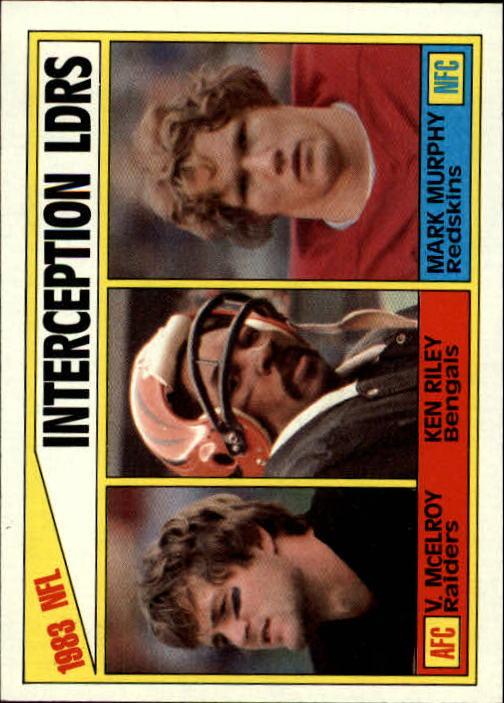 1984 Topps #206 Interception Leaders/Vann McElroy/Ken Riley/Mark Murphy