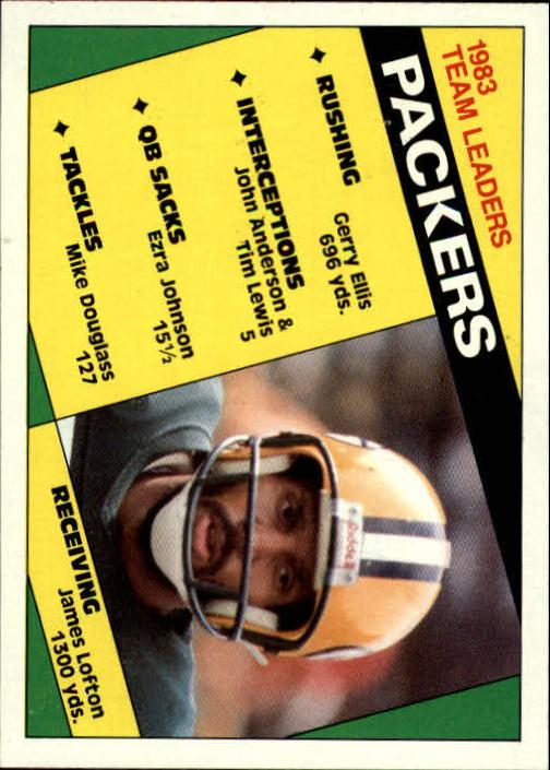 1984 Topps #263 Green Bay Packers TL/James Lofton