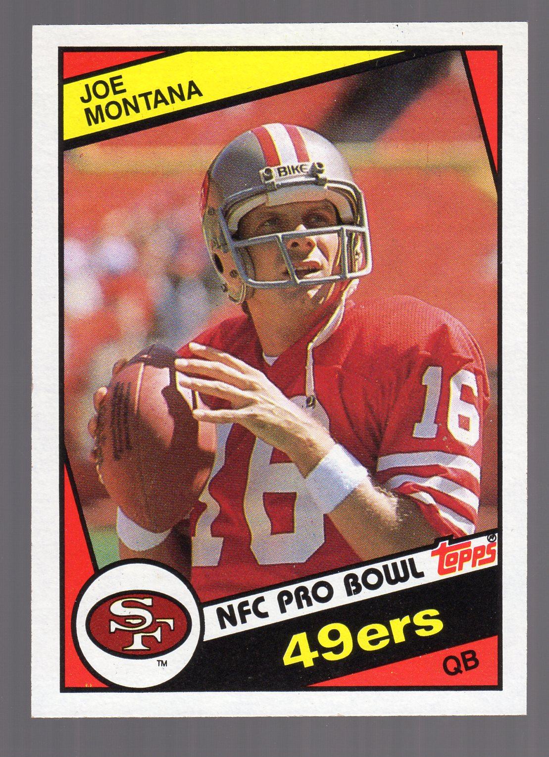 1984 Topps #358 Joe Montana PB