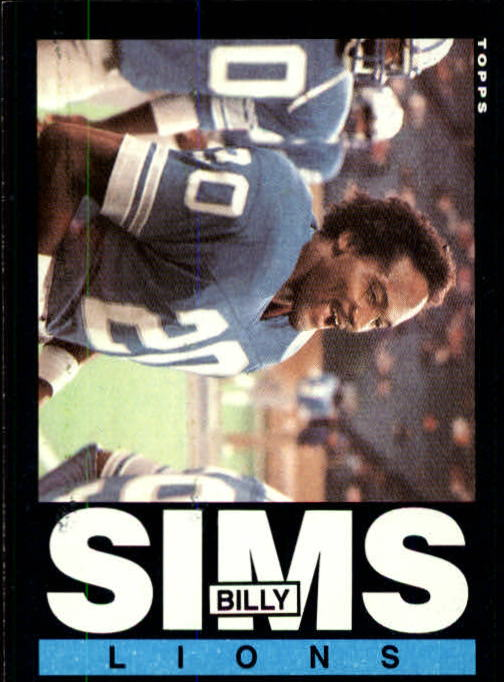 1985 Topps #63 Billy Sims