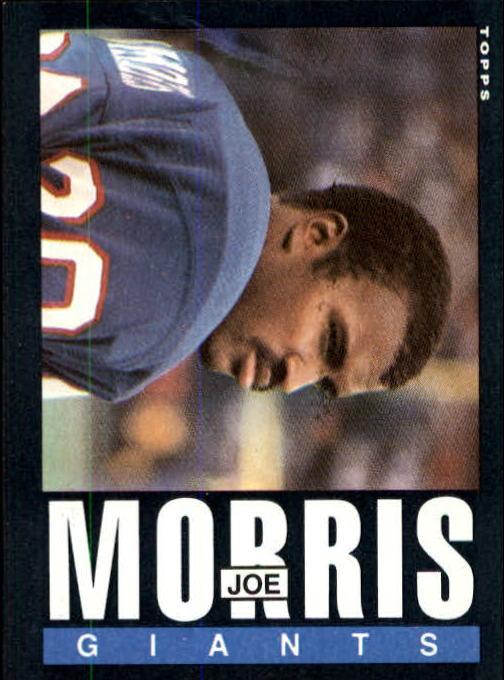 1985 Topps #120 Joe Morris RC