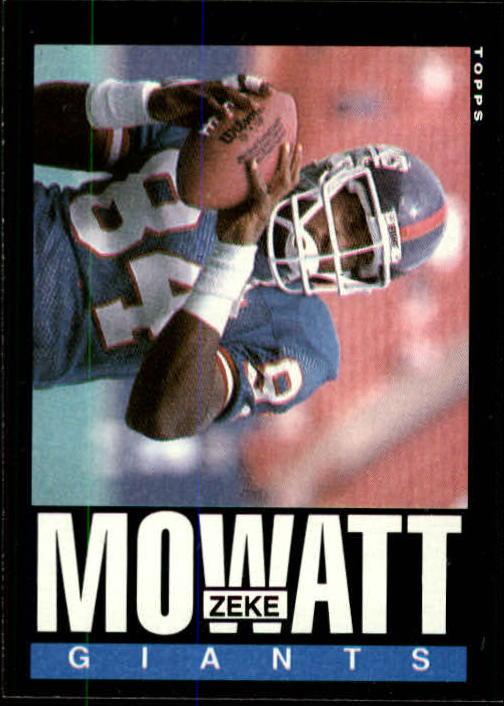 1985 Topps #121 Zeke Mowatt RC