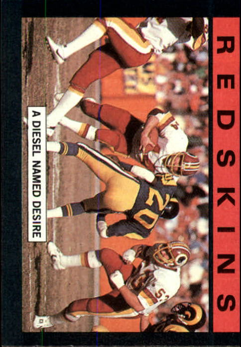 1985 Topps #177 Wash. Redskins TL/Diesel Named Desire/(John Riggins)