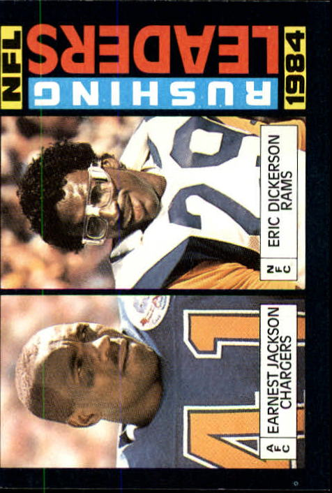 1985 Topps #194 Rushing Leaders/Earnest Jackson/Eric Dickerson