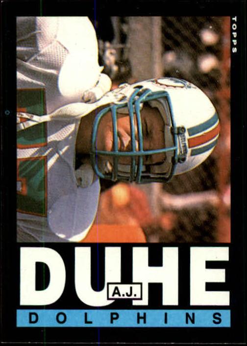 1985 Topps #309 A.J. Duhe