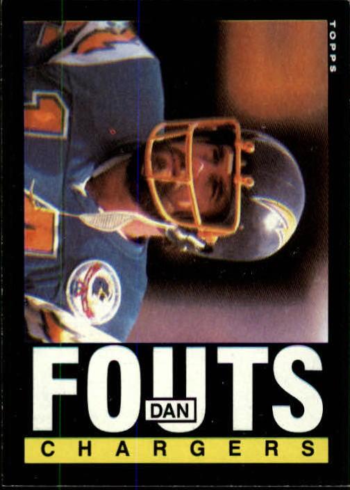 1985 Topps #372 Dan Fouts