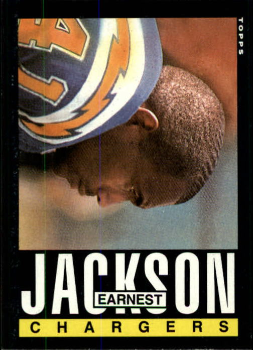 1985 Topps #375 Earnest Jackson RC