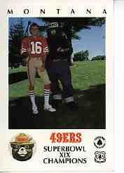 1985 49ers Smokey #2 Joe Montana