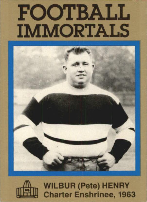 1985-88 Football Immortals #51 Fats Henry