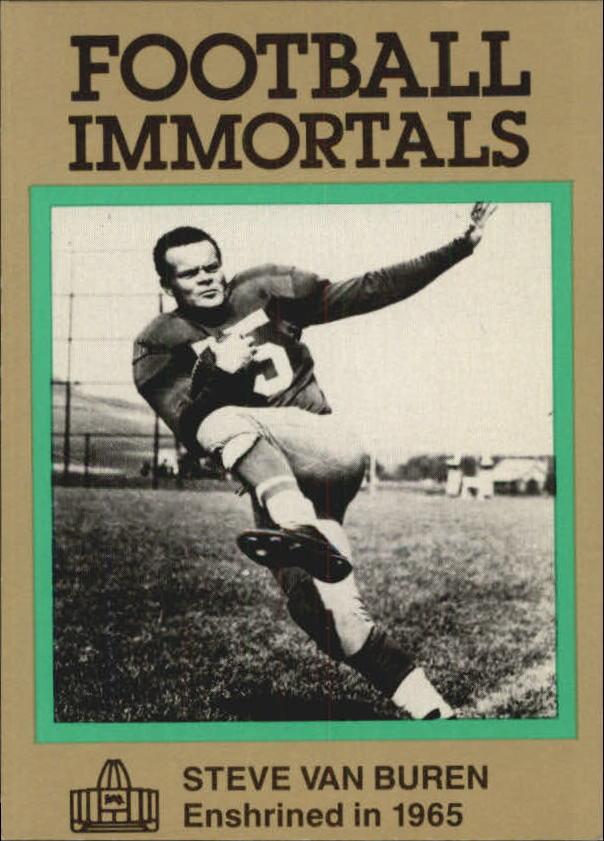 1985-88 Football Immortals #122 Steve Van Buren