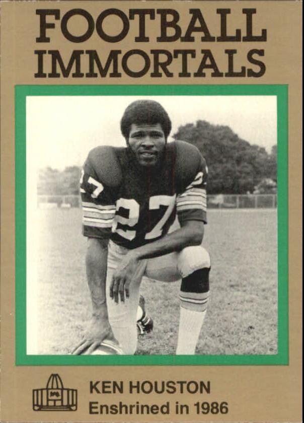 1985-88 Football Immortals #134B Ken Houston
