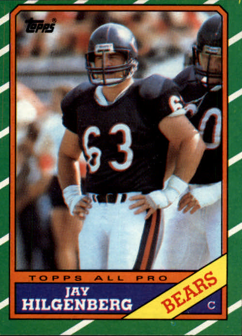 1986 Topps #17 Jay Hilgenberg RC