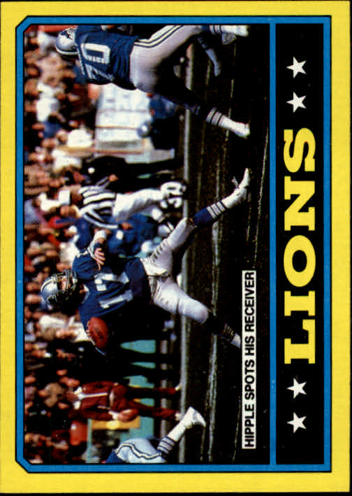 1986 Topps #242 Lions TL/(Eric Hipple Spots Receiver)