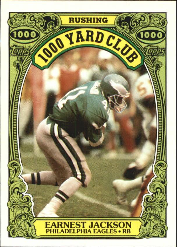 1986 Topps 1000 Yard Club #23 Earnest Jackson