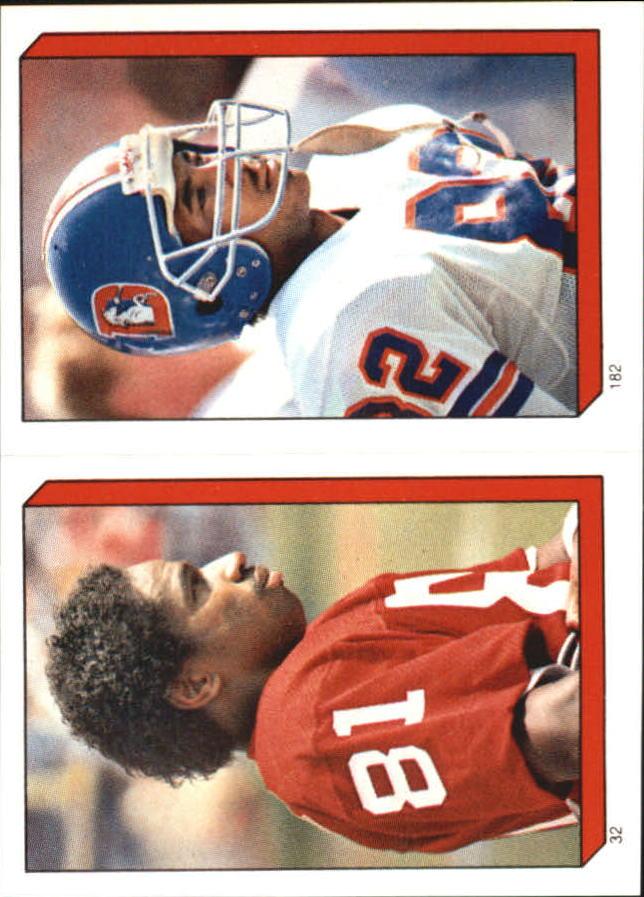 1986 Topps Stickers #32 Roy Green/ 182 Vance Johnson