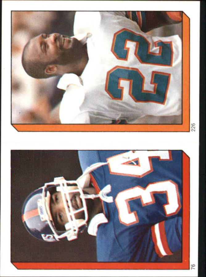 1986 Topps Stickers #76 Elvis Patterson/ 226 Tony Nathan