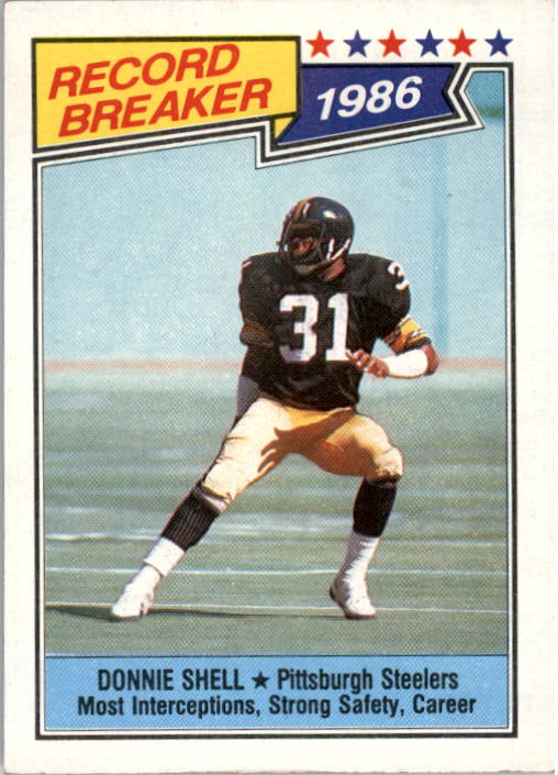 1987 Topps #7 Donnie Shell RB/Most Interceptions&/Strong Safety: Career