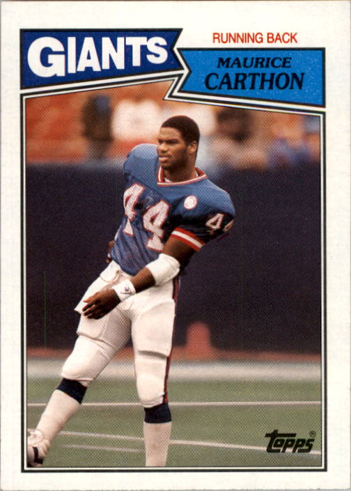 1987 Topps #12 Maurice Carthon RC