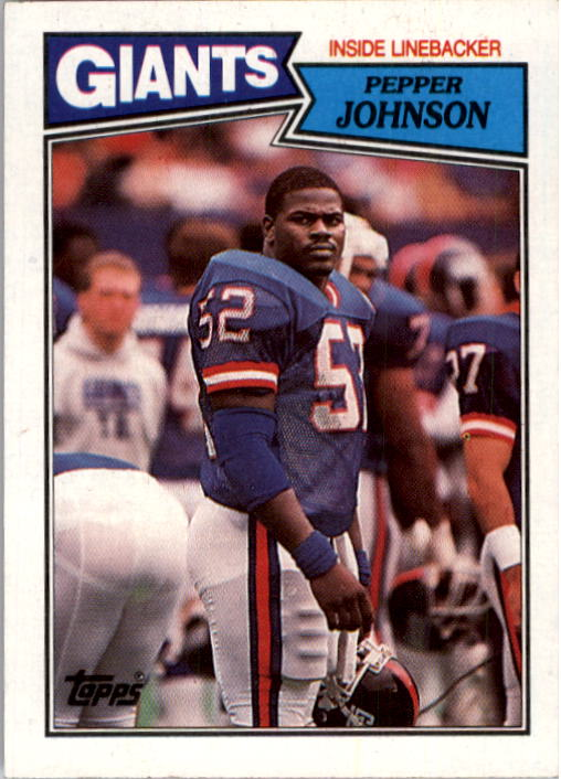 1987 Topps #28 Pepper Johnson RC