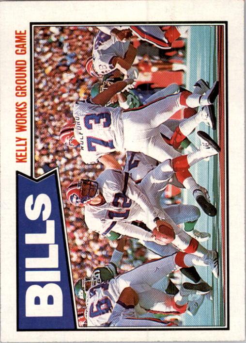 1987 Topps #361 Bills TL/(Jim Kelly Works Ground)