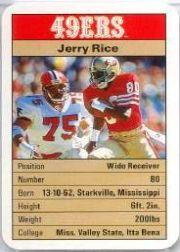 1987 49ers Ace Fact Pack #19 Jerry Rice