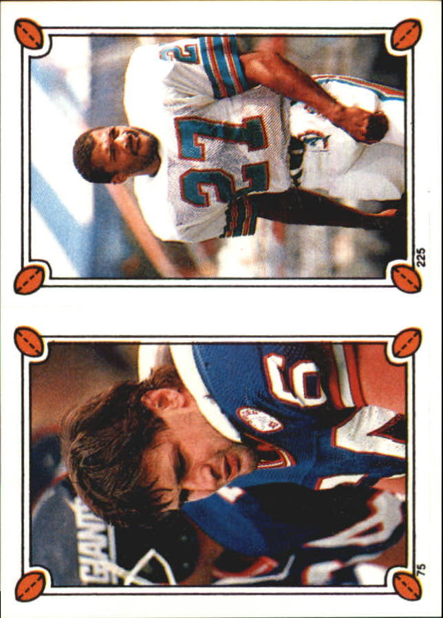 1987 Topps Stickers #75 Jim Burt/ 225 Lorenzo Hampton