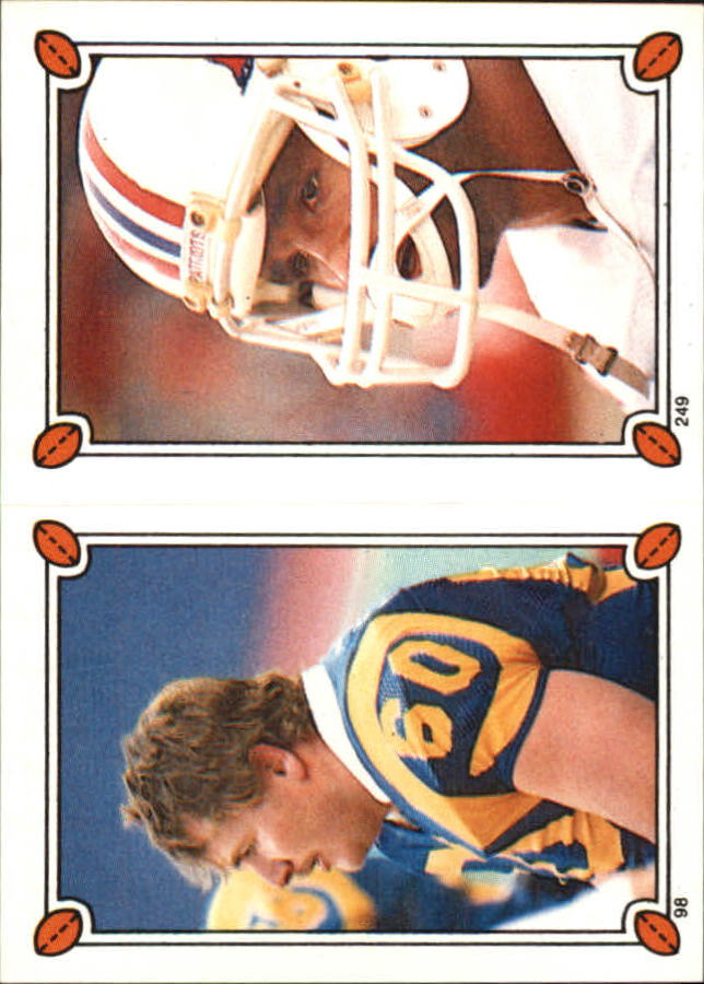1987 Topps Stickers #98 Dennis Harrah/ 249 Stanley Morgan