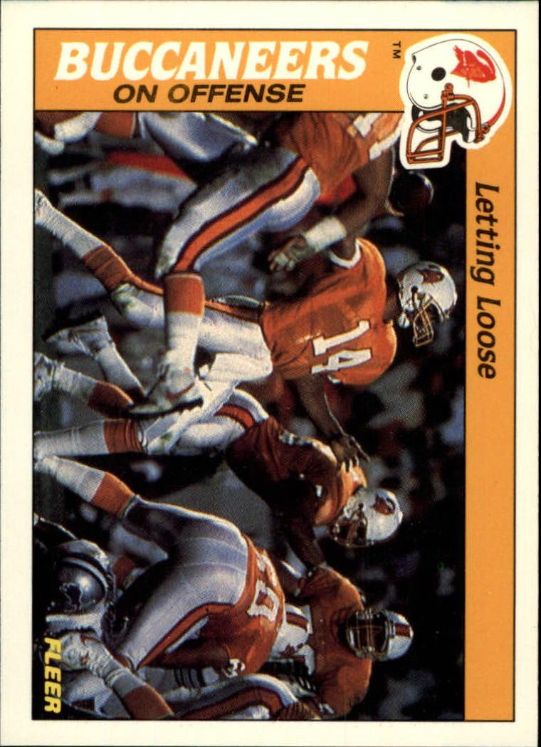 1988 Fleer Team Action #31 Tampa Bay Buccaneers Offense